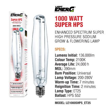 L E Super HPS 1000 Watt