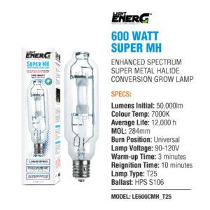 L.E Super MH 600 Watt