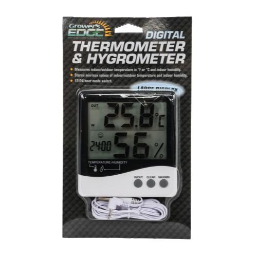 Grower's Edge Large Display Digital Thermometer & Hygrometer