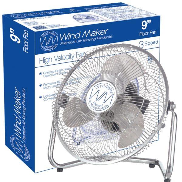 WindMaker 9inch Floor Fan